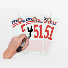 """Two-Timer"" 2 Digit Tag (100/pack)"