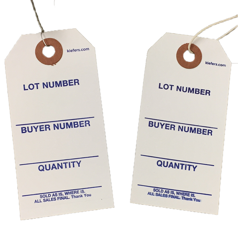 Auction Tags