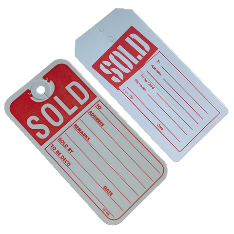 Sold Tags w/slit (100/pack)