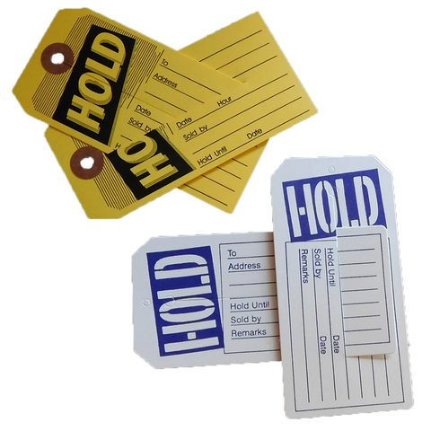 Sold & Hold Tags