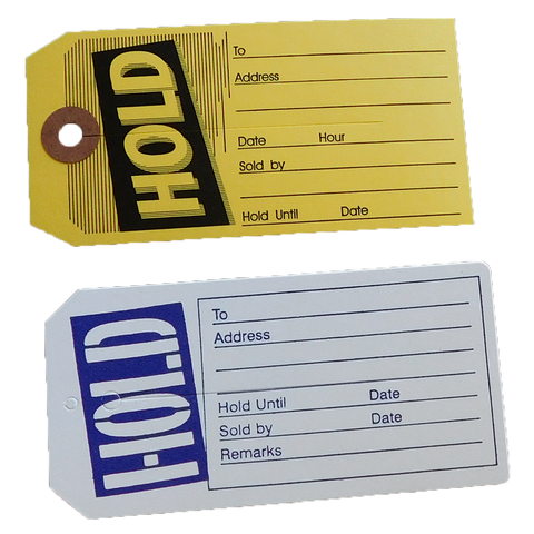 Hold Tags w/slit (100/pack)