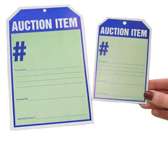 Auction Item Display Card
