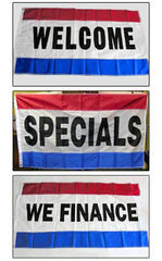 3 x 5 Foot  Stock Message Flags| Style| Blank Flag