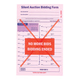 "NEW ""PRO"" Wide Silent Auction Bid Slip, 3-part (100/pack)"