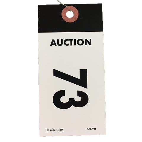 Black Top Numbered Tag - Wired (500/box)