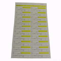 20 Ticket Clerk Sheets, Legal Size Form (100/pack)