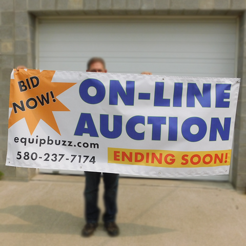3' x 7' Custom Printed On-Line Auction Banner