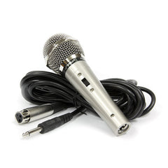 Professional Handheld Microphone Dynamic Moving Coil Mic with 15' ft. XLR Cable & Carry Case