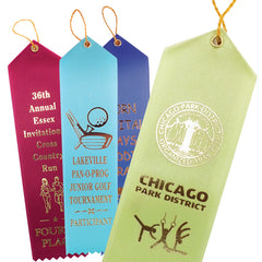 Custom Printed Point Top Ribbons (packaged in 100's)