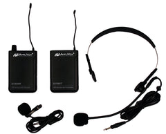 Wireless 16 Channel UHF Lapel & Headset Mic Kit by Amplivox