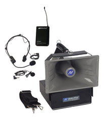 Half Mile Hailer Sound System by Amplivox (Headset/Lapel wireless)