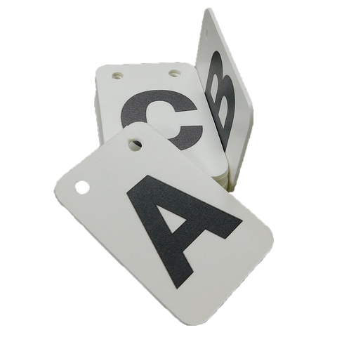 Flipper Deck Replacement Cards<Br>(Plastic or Aluminum)