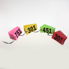 Star Brights Tags, #5, Wired (500/box) 4 colors