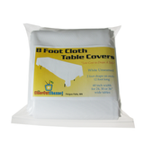 Economy White Cloth Fabric Table Cover (3 Sizes)