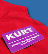 Custom Printed Full Color Plastic Name Tags