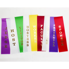 "Event Flat Ribbons- 2"" x 8"" with pinked ends - package of 25 per legend."