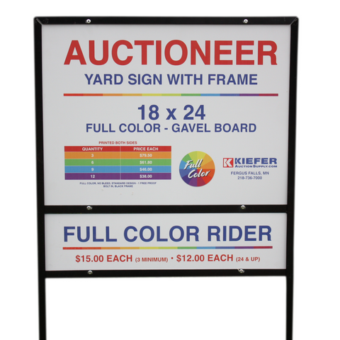 Full Color Custom Board Sign with Frame