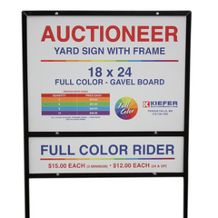 Full Color Custom Gavel Board Sign with Frame