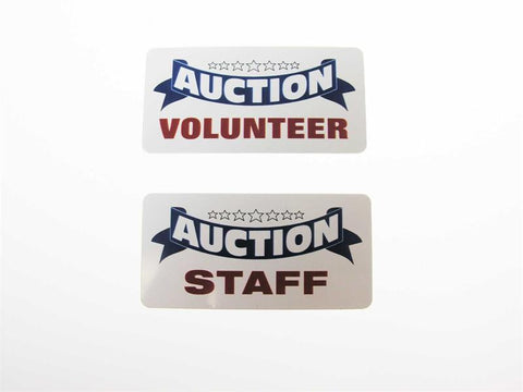 AUCTION Name Badges (6 versions)