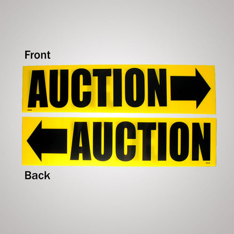 "Auction Add On 6"" x 24"" Coroplast Signs (10/pack)"
