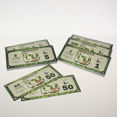 """Cash Cow""  Bidder Bucks - 7 available demoninations"