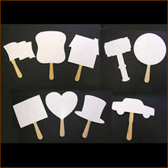 Blank Shape Bid Paddle, Stock (25/pack)