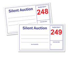 Silent Auction Display Card