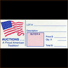 12 Ticket Freedom (red, white & blue) Clerk Sheets (100/pack)