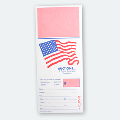 Freedom Bid Cards w/ registration stub (500)