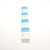 NEW Blue Top 1-1/2 x 2-1/2 Strip Labels (1000/pack)