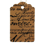 Paris Script Tags (Box of 100) 2 Sizes