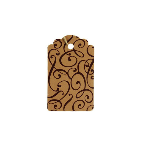 Cocoa Script Tag (Box of 100) 2 Sizes