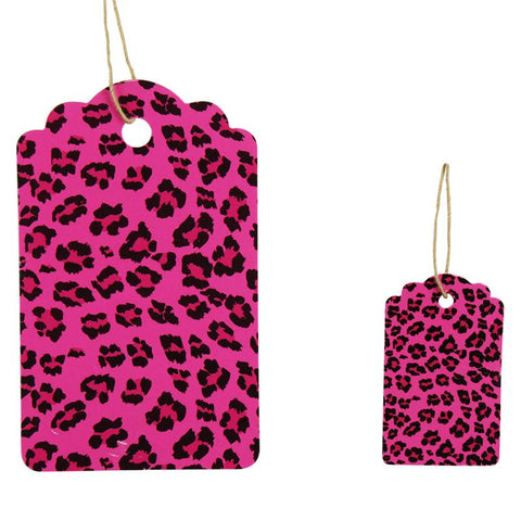 Pink Leopard Tag (Box of 100) 2 Sizes