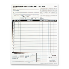 Detailed Consignment Form, 2 part (100/pack)