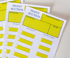 Silent Auction Cards