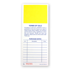 Purchase Notes Bid Cards (500/pack) Yellow Square