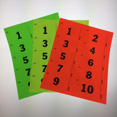 Pre-Numbered 2 x 4 Label (500/pack) Choice of 3 colors