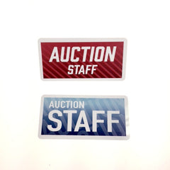 AUCTION STAFF Name Badges (Red or Blue)