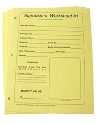 Appraiser's Worksheet