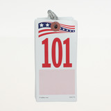 Patriotic RWB Jack Tag, #5, wired (500/box) 1 or 2 sided