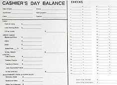 Settlement/Cashier Forms