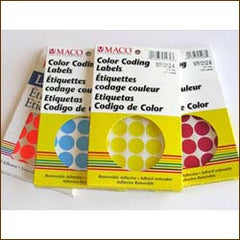 Colored Round Dot Pricing Labels (1000/Pack)