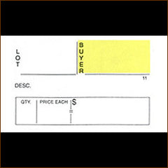 18 Ticket Clerk Sheets w/ CUSTOM BACKSIDE PRINT (500/pack)