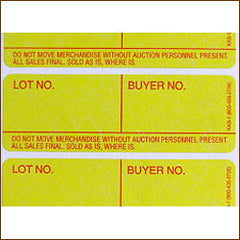 Style 1 Lotting Label - Super Stick (1000/roll)