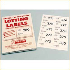 Pre-Numbered Speed Lot Labels - Large (400/pack)