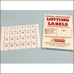 Pre-Numbered Speed Lot Labels- Medium (500/pack)