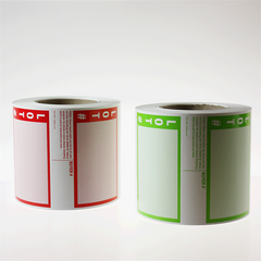 "NEW 4"" x 5"" Extra Heavy Commercial Labels (500/roll) 2 colors"