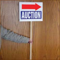 Auction Arrows Signs on a Stick (Pack of 25)