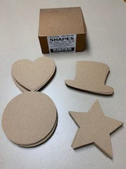 Die-cut Chipboard Shapes (80 per box) 4 assorted styles