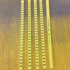 Number Strips for Slot File (100/set)